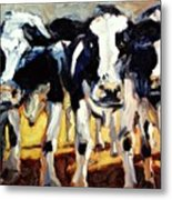 3-cows Metal Print