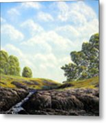 Flowering Meadow Metal Print