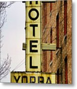 Hotel Yorba Metal Print