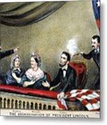 Lincoln Assassination Metal Print