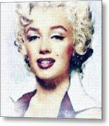 Marilyn Monroe, Actress And Model Metal Print