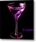 3 Martini Lunch Metal Print by Wingsdomain Art and Photography