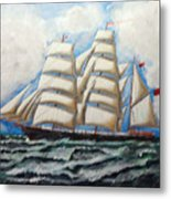 3 Master Tall Ship Metal Print