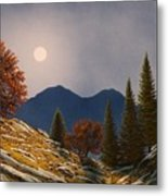 Mountain Moonrise Metal Print