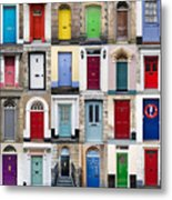 32 Front Doors Horizontal Collage  Metal Print by Richard Thomas
