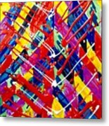 Jugglery Of Colors Metal Print