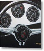 356 Porsche Dash Metal Print