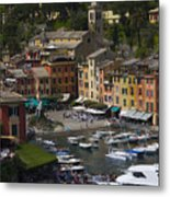 Portofino In The Italian Riviera In Liguria Italy Metal Print by David Smith