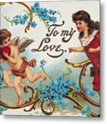 Valentines Day Card Metal Print