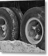 4 Wheels And Sand Metal Print