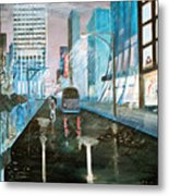 42nd Street Blue Metal Print