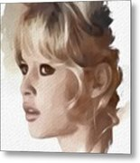 Brigitte Bardot, Actress Metal Print