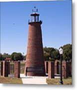 Lighthouse On Lake Toho At Kissimmee In Florida Metal Print