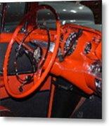 57 Chevy Bel Air Interior Metal Print