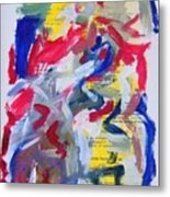 Abstract On Paper No. 26 Metal Print