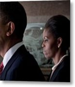President And Michelle Obama Metal Print