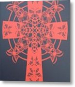 Red Butterfly-cross Metal Print