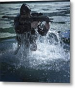 Special Operations Forces Soldier Metal Print