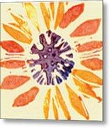 60's Sunflower Metal Print by Annie Alexander