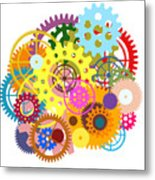 Gears Wheels Design  Metal Print