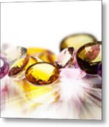 Colorful Gems Metal Print by Setsiri Silapasuwanchai