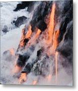 Pahoehoe Lava Flow Metal Print