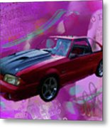 93 Mustang V2 Metal Print