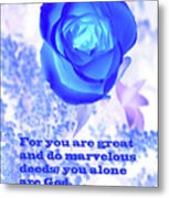 A Blue Rose Ps. 86 V 10 Metal Print