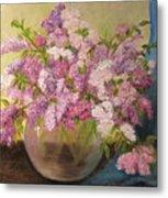 A Bowl Full Of Lilacs Metal Print