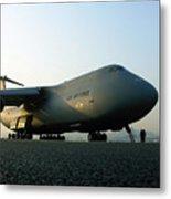 A C-5 Galaxy Sits On The Flightline Metal Print