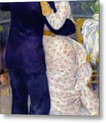 A Dance In The Country Metal Print by Pierre Auguste Renoir