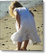 A Day At The Beach 5610 Metal Print