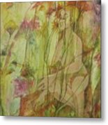 A Day In The Flowers Metal Print