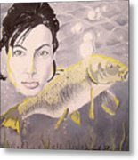 A Fish Named Angelina Metal Print