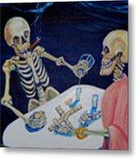 A Friendly Game Of Bones Metal Print