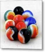 A Fun Game Of Marbles Metal Print