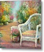 A Garden Chair Metal Print