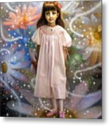 A Girl And A Seven Fairies 2 Metal Print