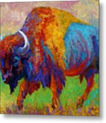 A Journey Still Unknown - Bison Metal Print