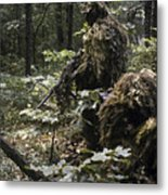 A Marine Sniper Team Wearing Camouflage Metal Print