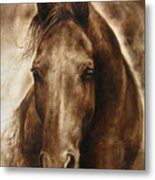 A Misty Touch Of A Horse So Gentle Metal Print