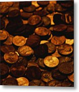 A Mound Of Pennies Metal Print