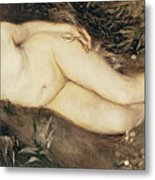 A Nymph By A Stream Metal Print