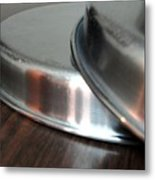 A Pair Of Steel Plates Metal Print