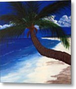 A Palm On The Coast Metal Print