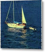 A Peaceful Day For Sailing Metal Print