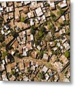 A Poor Neighborhood In Urban Maputo Metal Print
