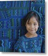 A Portrait Of A Guatemalan Girl Metal Print by Raul Touzon