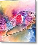A Rainbow Of Salmon Metal Print