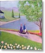 A Ride In The Park Metal Print by William H RaVell III